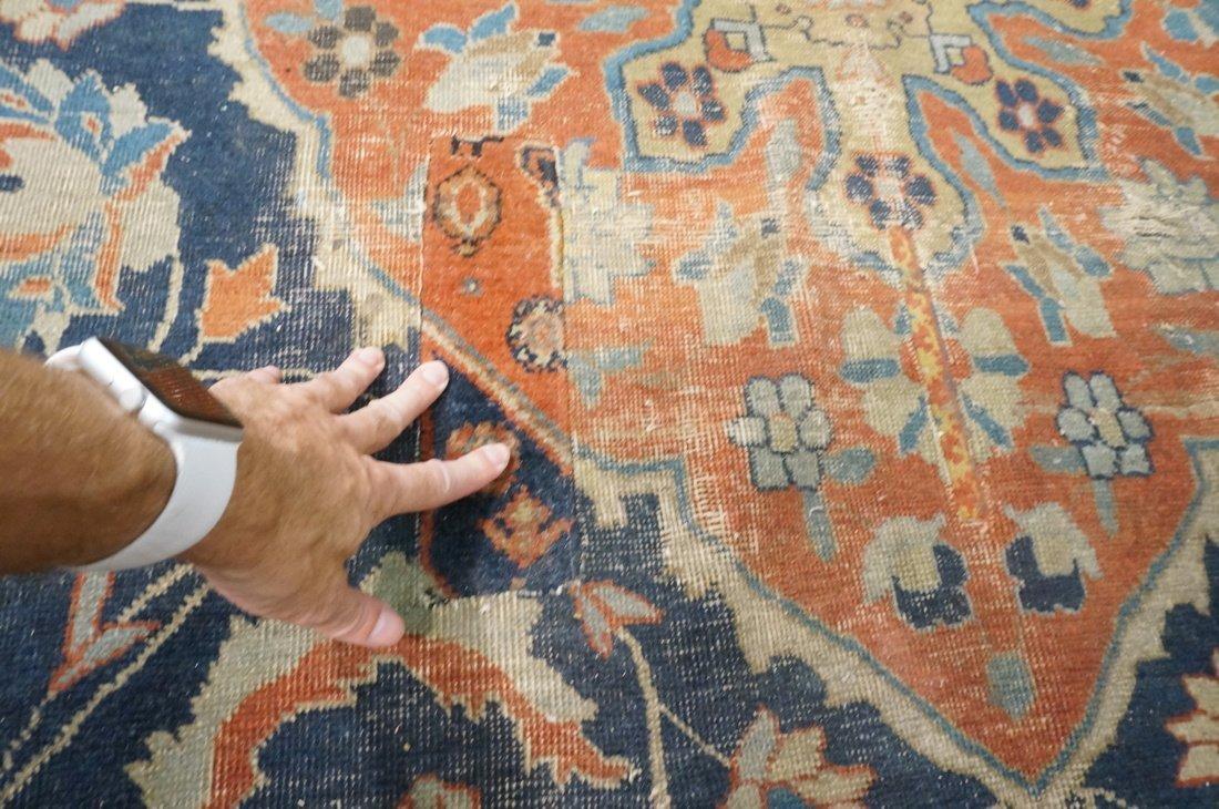 11'4 x 8'4 Large antique handmade carpet Farahan - 4
