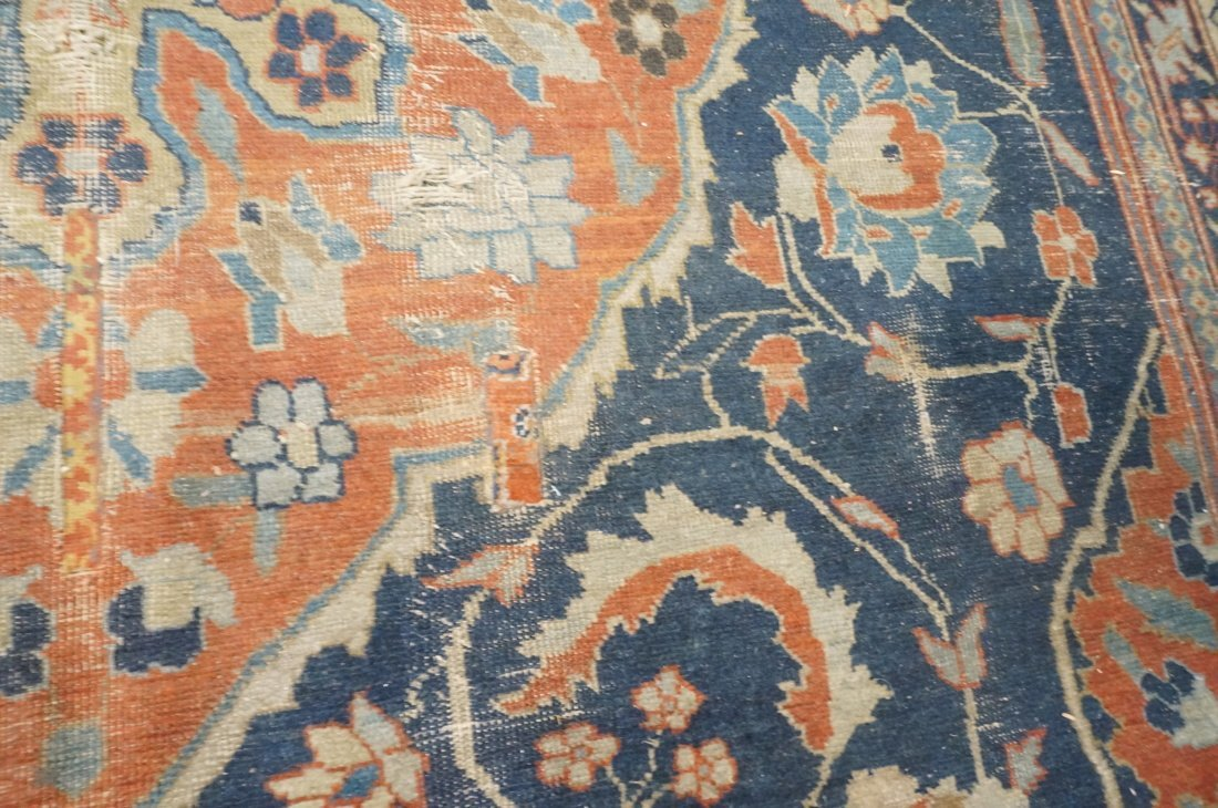 11'4 x 8'4 Large antique handmade carpet Farahan - 5