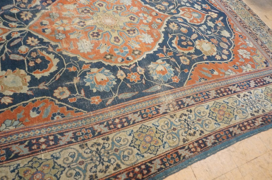 11'4 x 8'4 Large antique handmade carpet Farahan - 6