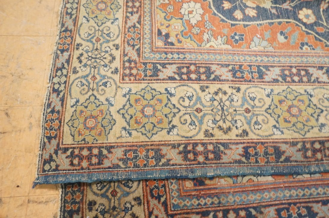 11'4 x 8'4 Large antique handmade carpet Farahan - 7