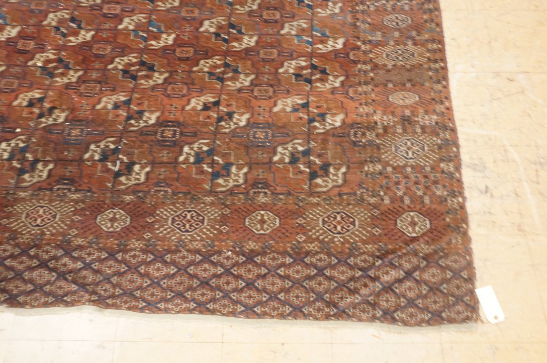 9'4 x 7'3 Brown BOKHARA carpet rug repeating patt - 2