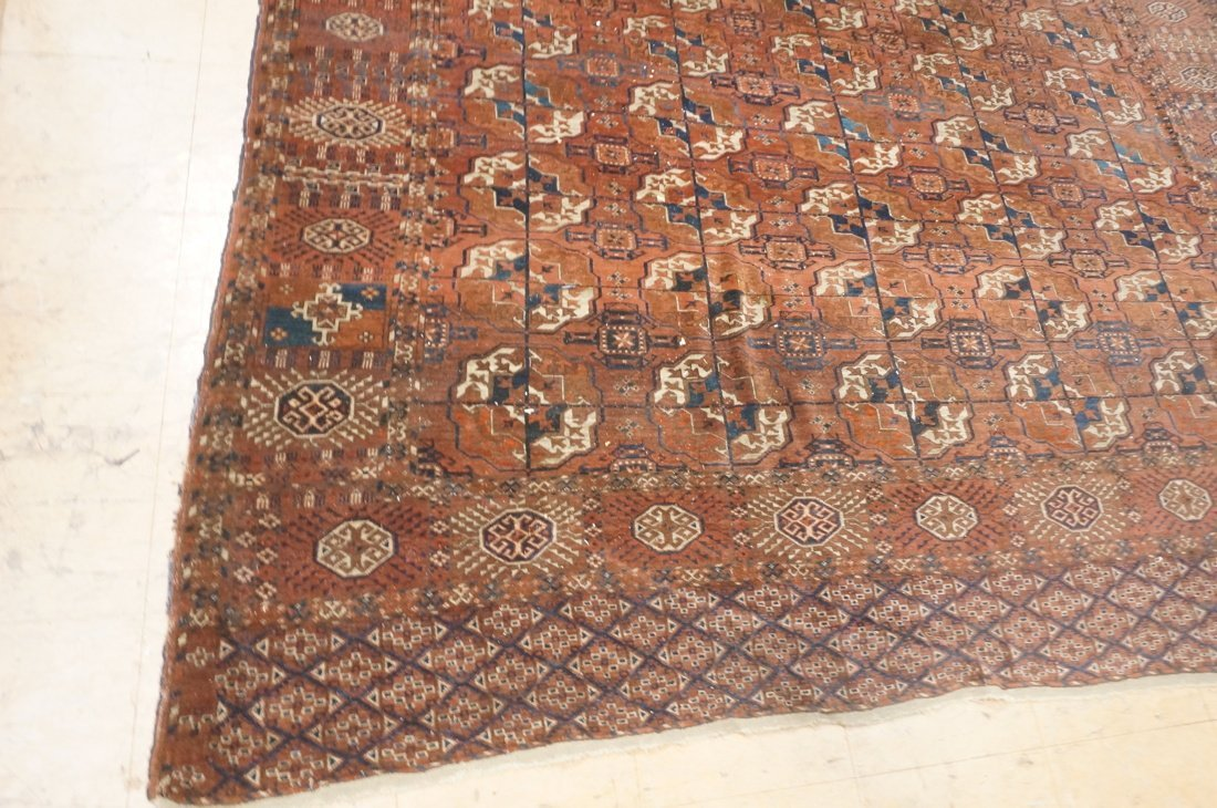 9'4 x 7'3 Brown BOKHARA carpet rug repeating patt - 3