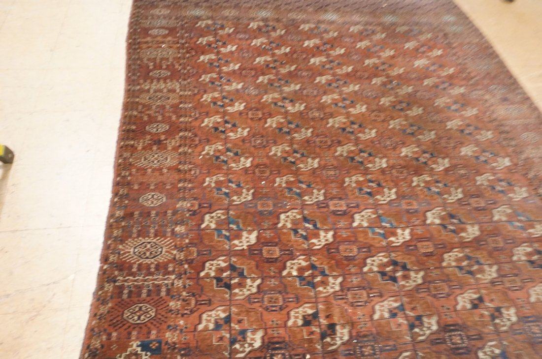 9'4 x 7'3 Brown BOKHARA carpet rug repeating patt - 4