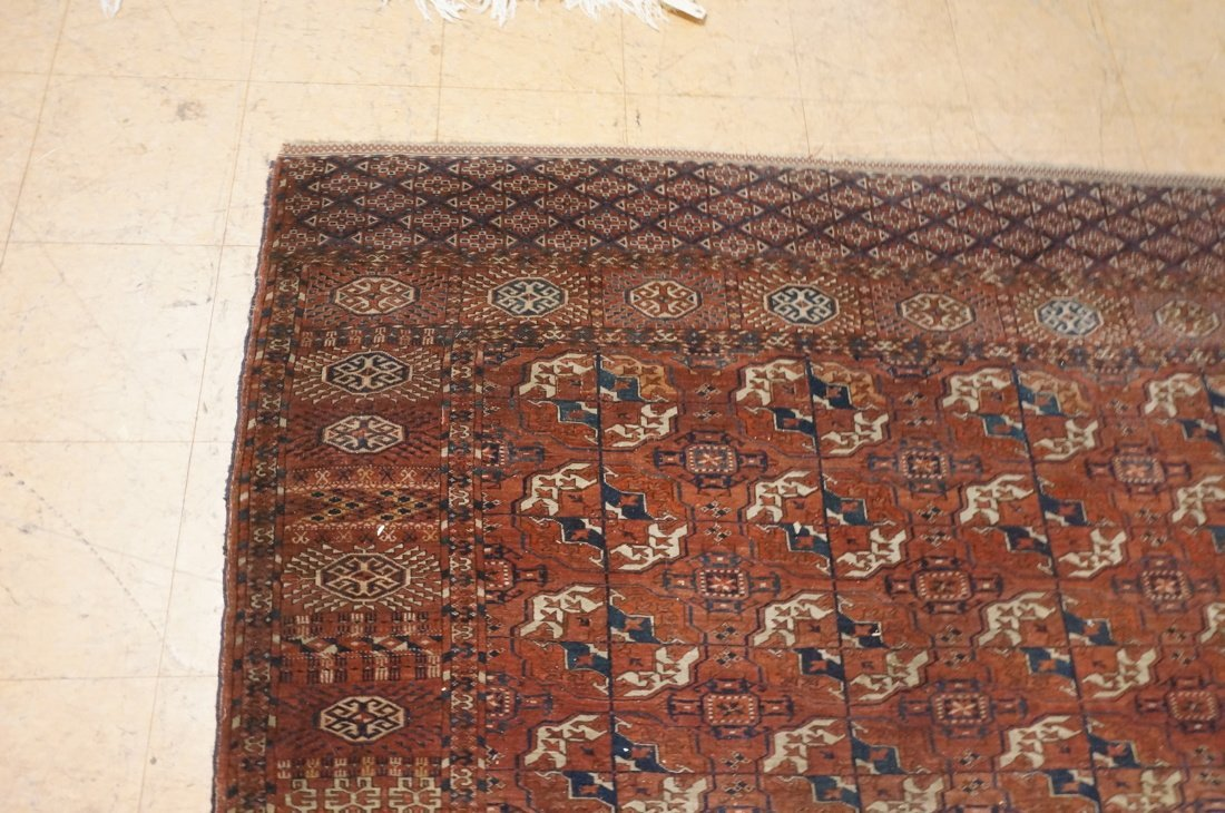 9'4 x 7'3 Brown BOKHARA carpet rug repeating patt - 5