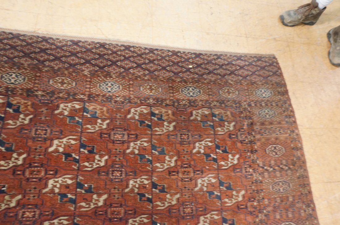 9'4 x 7'3 Brown BOKHARA carpet rug repeating patt - 6