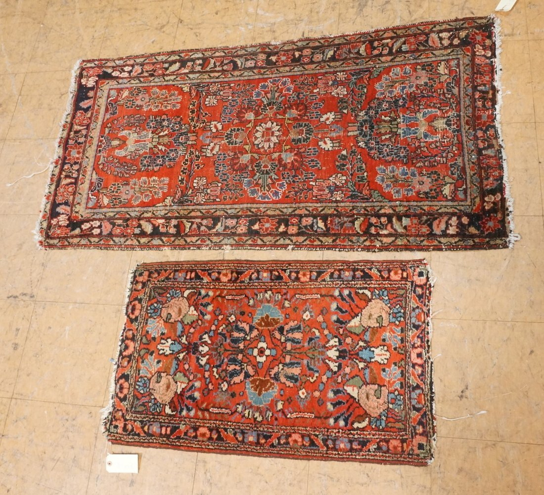 4'11 x 2'8 2 pc handmade oriental rust carpet rug