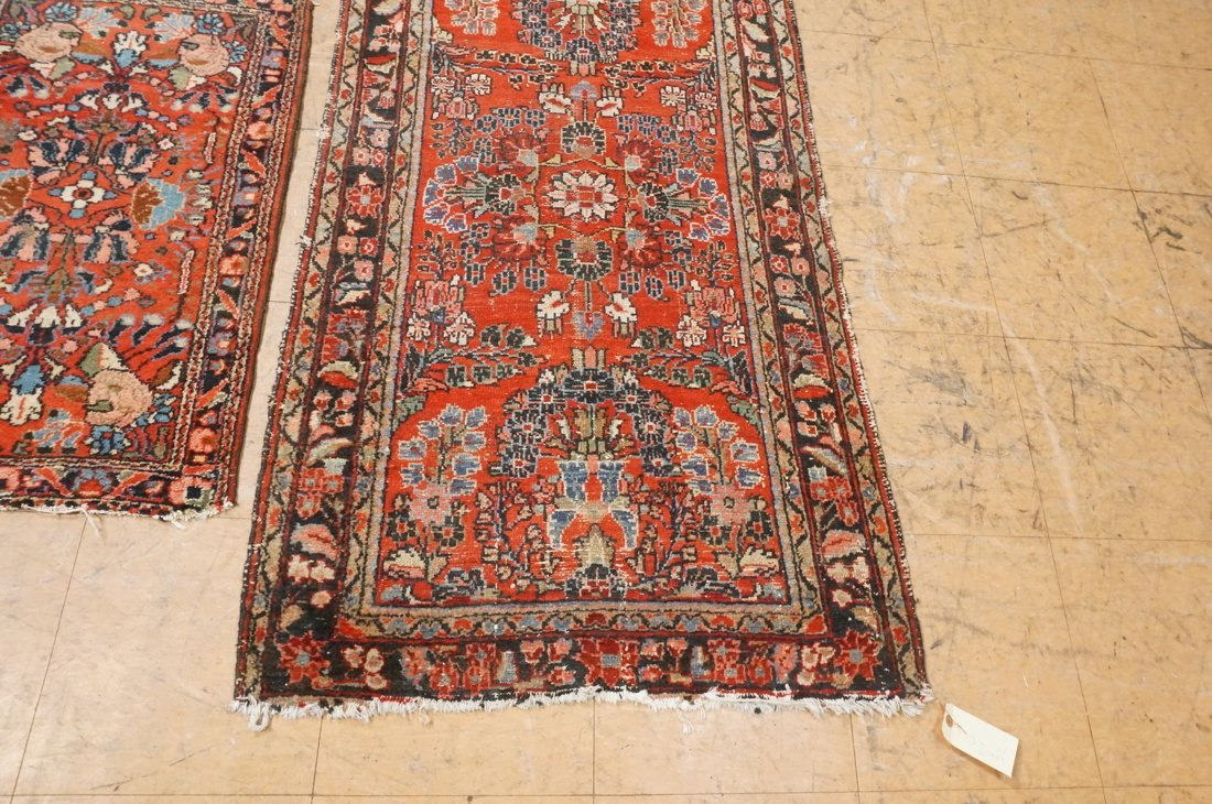 4'11 x 2'8 2 pc handmade oriental rust carpet rug - 2