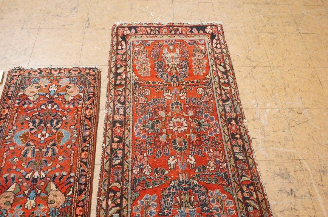 4'11 x 2'8 2 pc handmade oriental rust carpet rug - 3