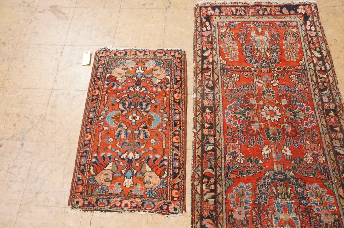 4'11 x 2'8 2 pc handmade oriental rust carpet rug - 4