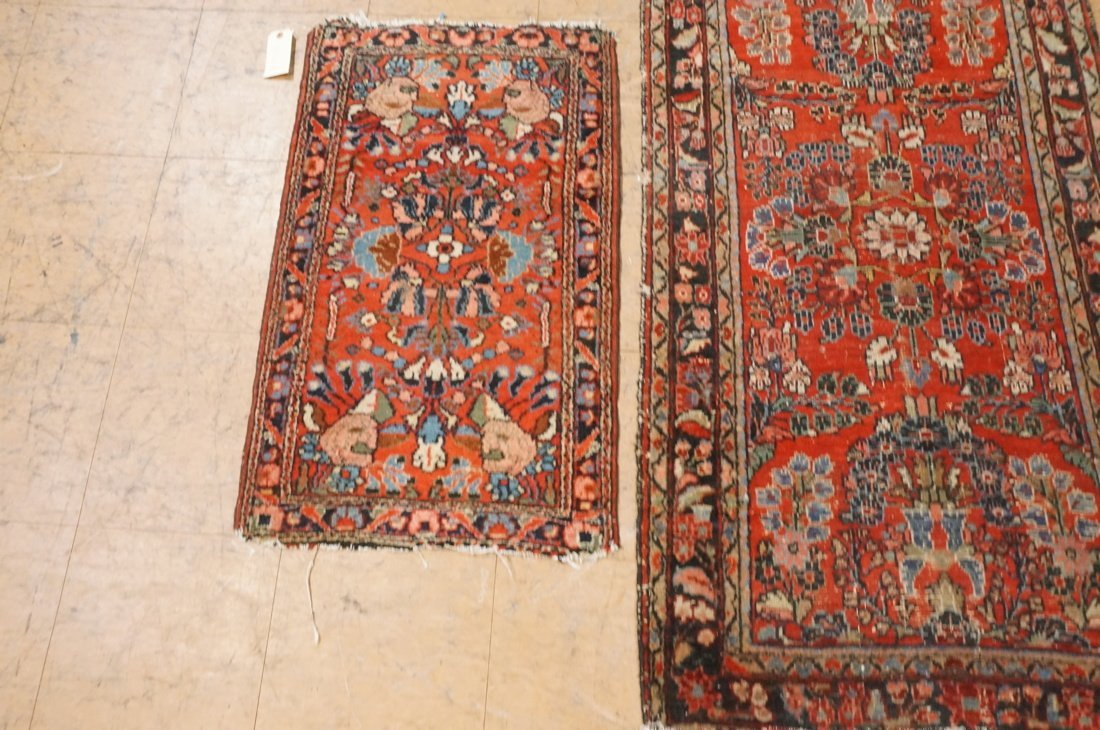 4'11 x 2'8 2 pc handmade oriental rust carpet rug - 5