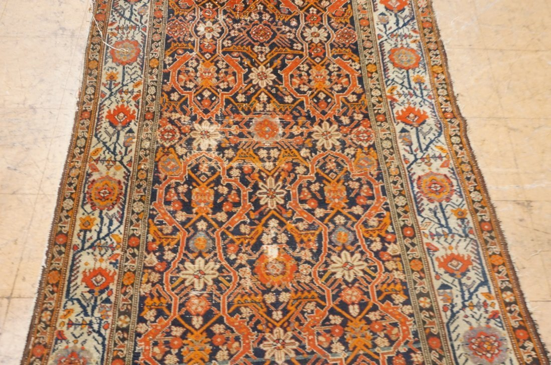 7 x 4'8 handmade oriental carpet rug, all over pa - 3