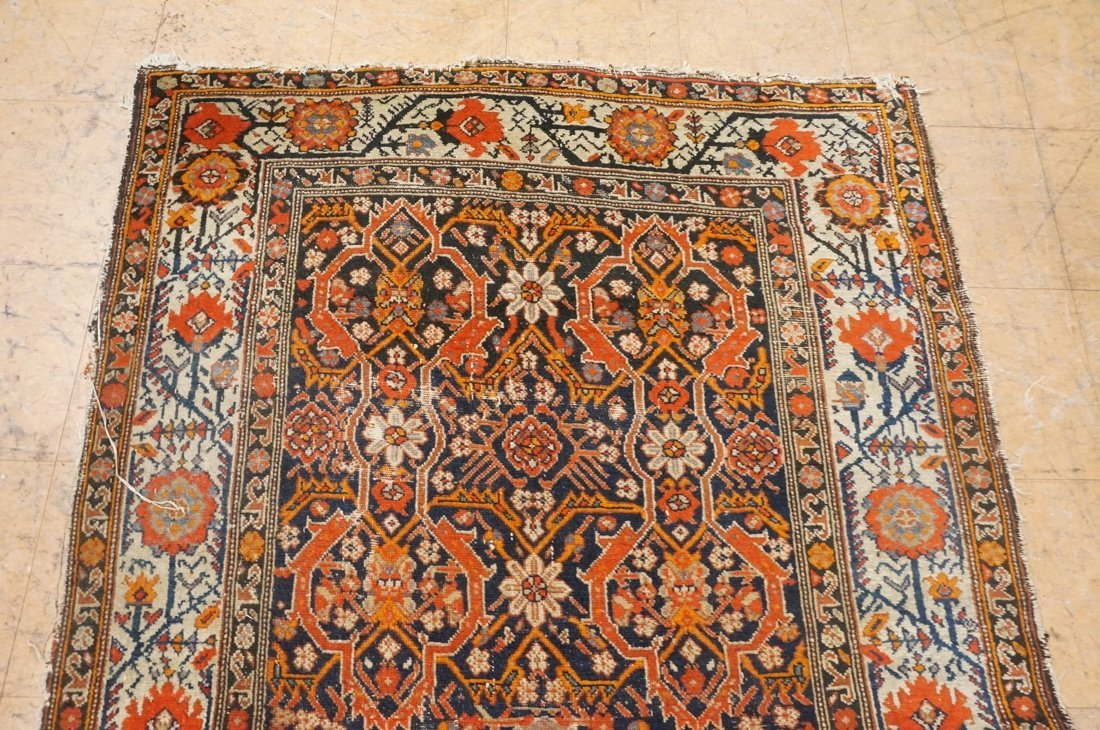 7 x 4'8 handmade oriental carpet rug, all over pa - 4
