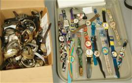 60+ pcs Wrist Watches. Mixed lot from Vintage di