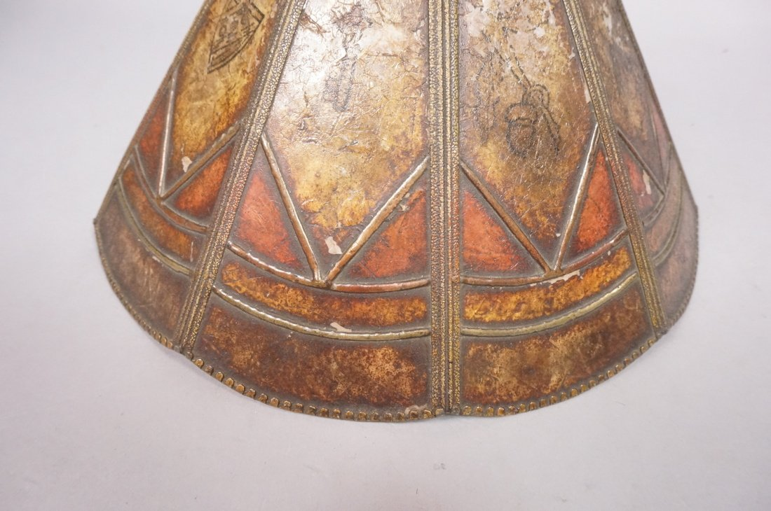 Small Antique Mica Lamp Shade. Ten sided Cone for - 6