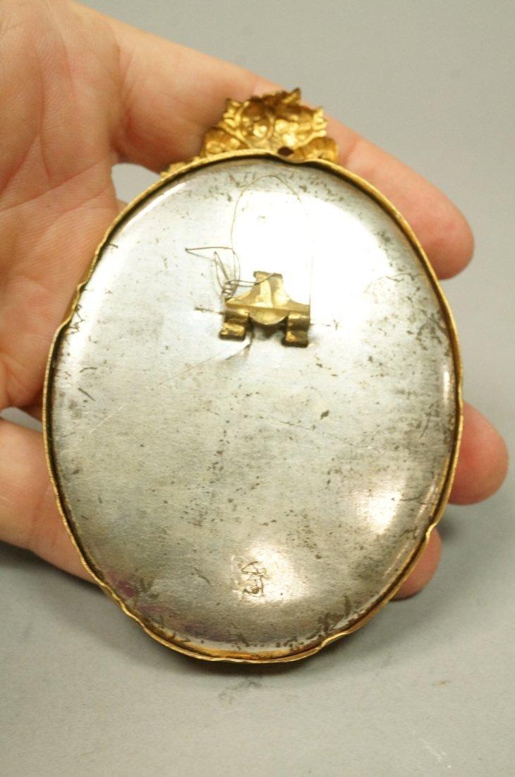 Madonna & Child Painted Oval Porcelain Medallion. - 2