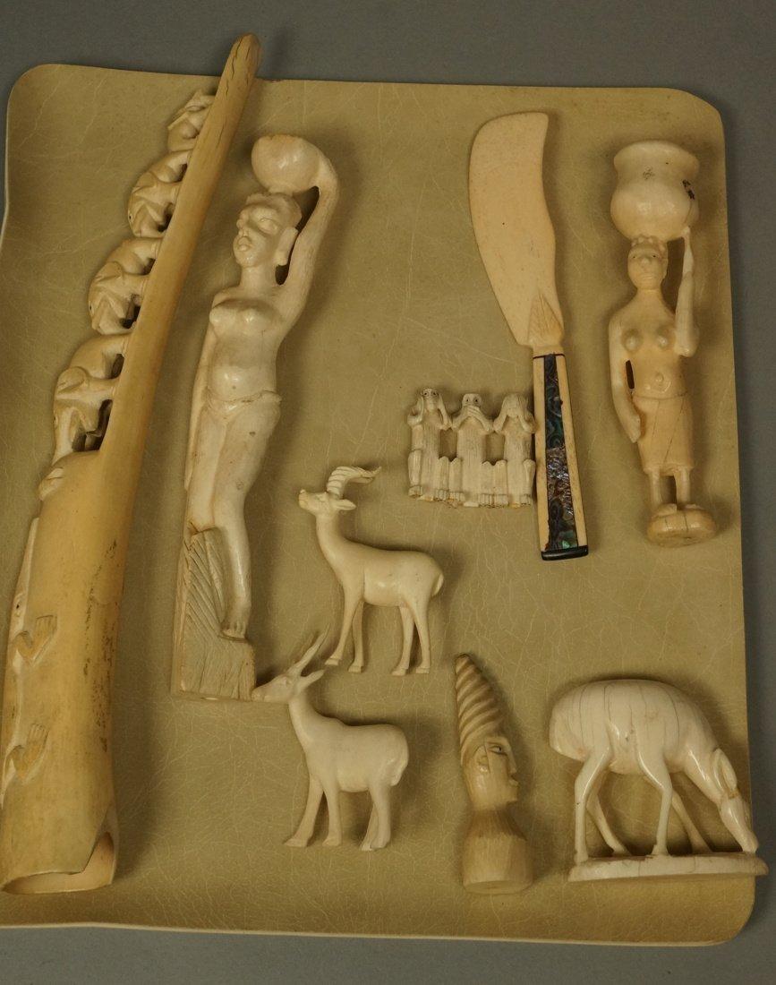 Lot 9 Carved Figural Sculptures. Predominantly Af
