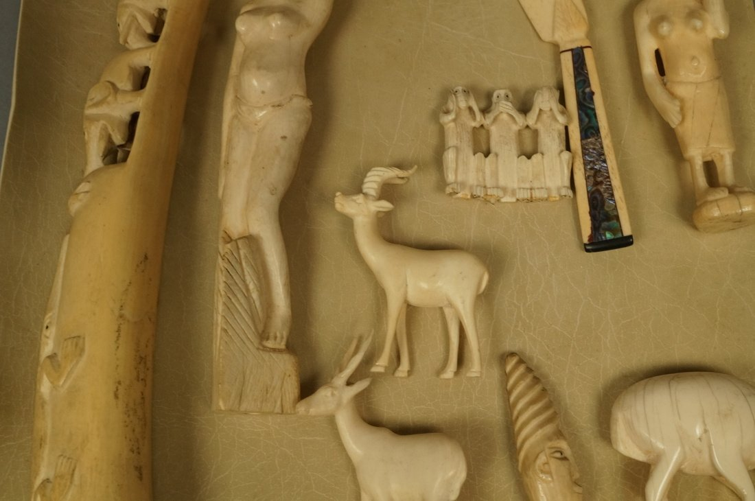 Lot 9 Carved Figural Sculptures. Predominantly Af - 3