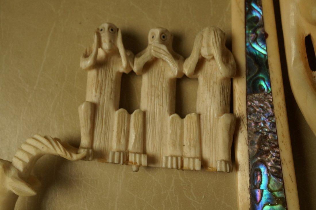 Lot 9 Carved Figural Sculptures. Predominantly Af - 9
