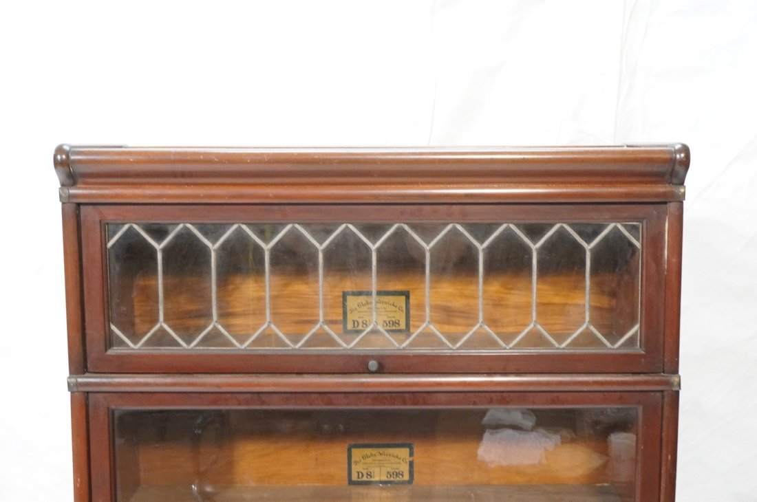 Mahogany Barrister Bookcase. Five stacks; top cas - 2