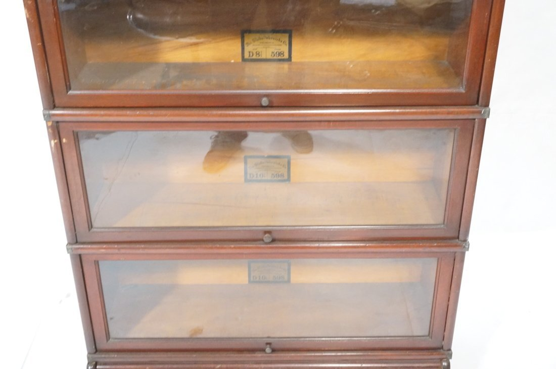 Mahogany Barrister Bookcase. Five stacks; top cas - 4