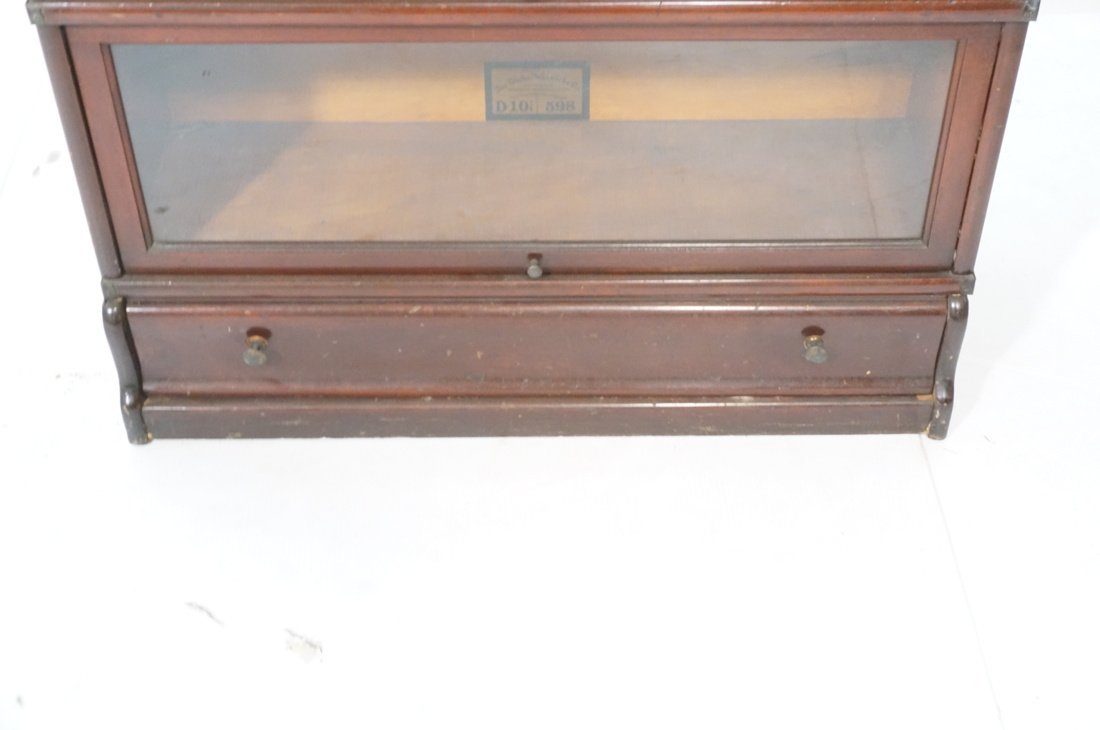Mahogany Barrister Bookcase. Five stacks; top cas - 5