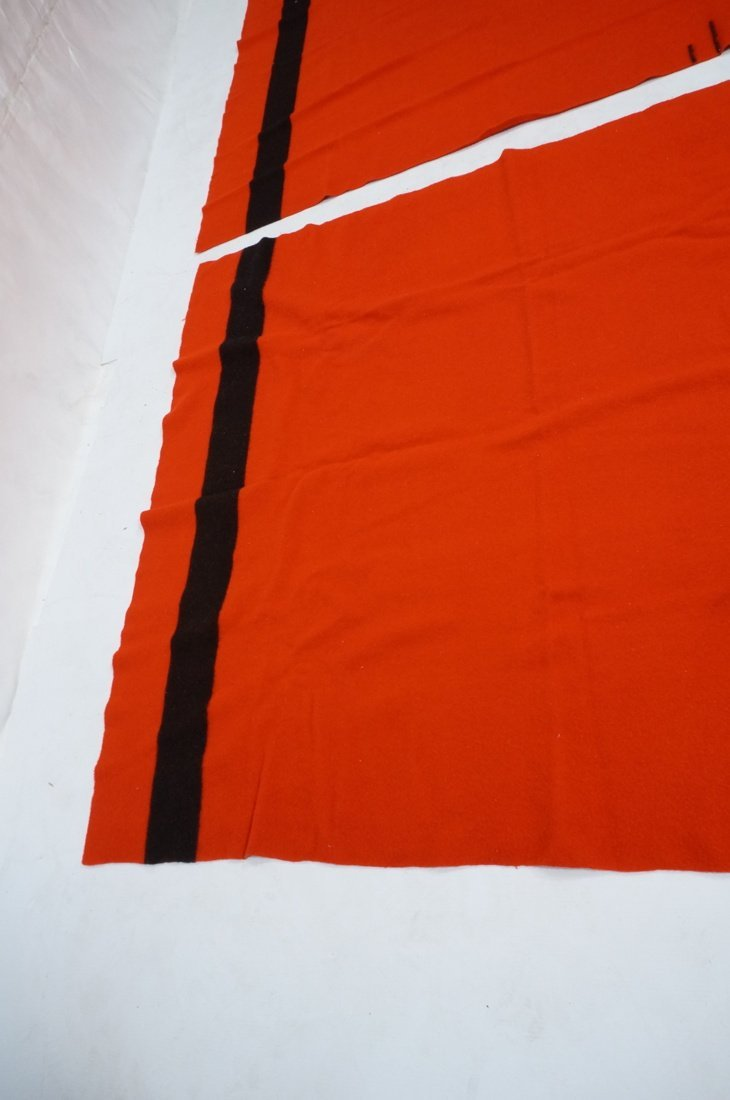 Two HUDSON'S BAY POINT Wool  Blanket. Red 100% Wo - 5