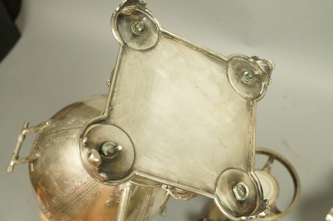 5pcs Antique Silver Plate Serving Items. Pr Renai - 10