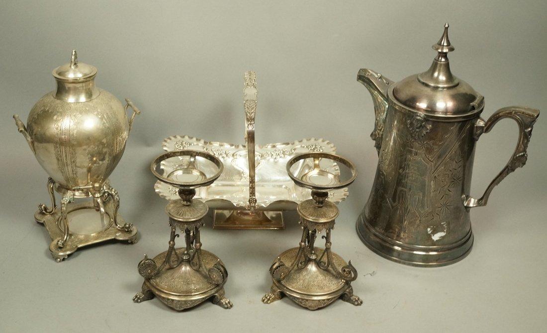 5pcs Antique Silver Plate Serving Items. Pr Renai