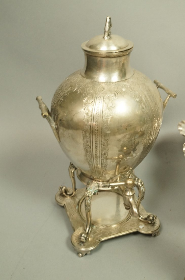 5pcs Antique Silver Plate Serving Items. Pr Renai - 3