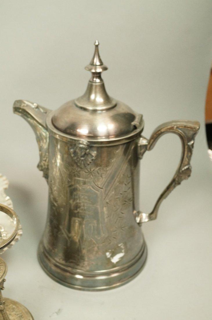 5pcs Antique Silver Plate Serving Items. Pr Renai - 5