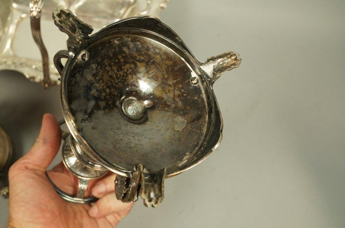 5pcs Antique Silver Plate Serving Items. Pr Renai - 7