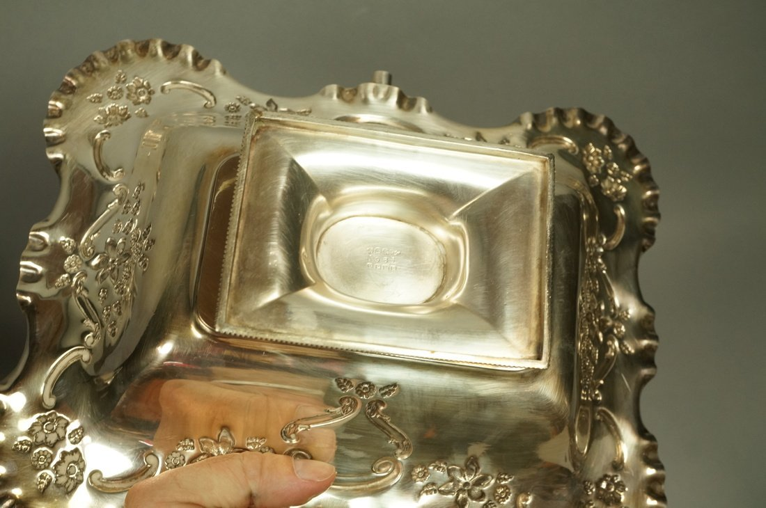 5pcs Antique Silver Plate Serving Items. Pr Renai - 8