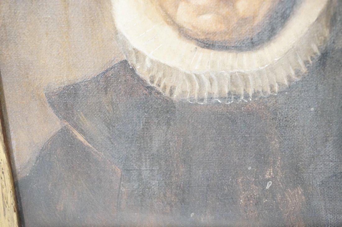 Antique Oil Painting. Portrait of Woman. Paper no - 4