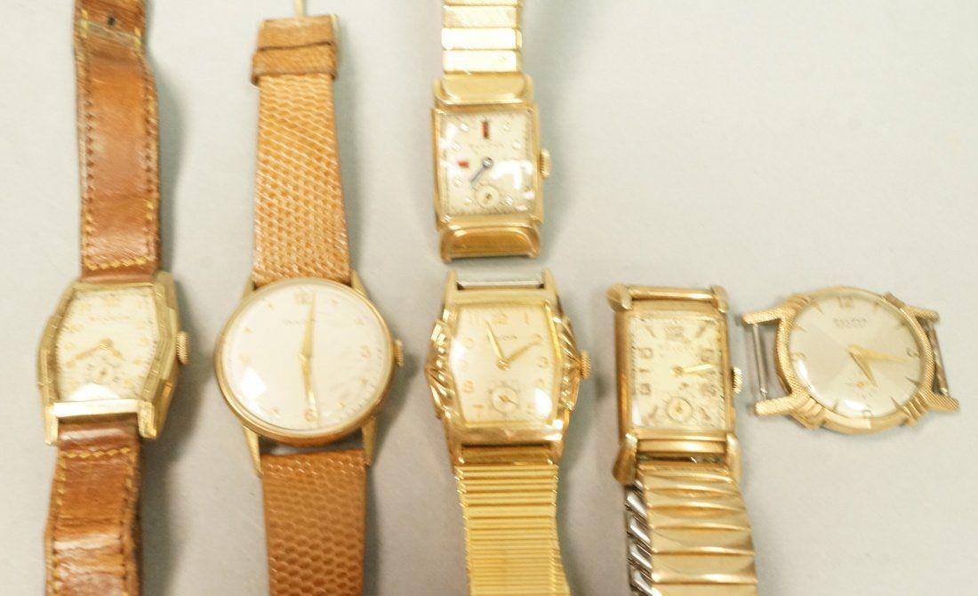 6pcs Vintage Bulova Wrist Watches.