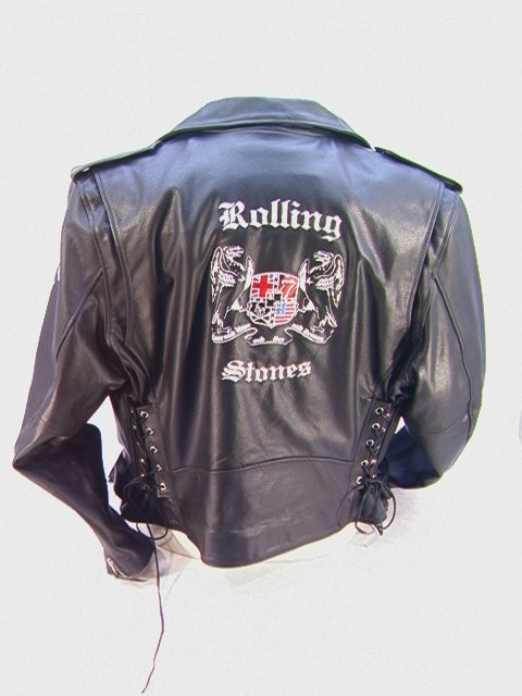 1003: ROLLING STONES Leather Biker Tour Jacket Limited