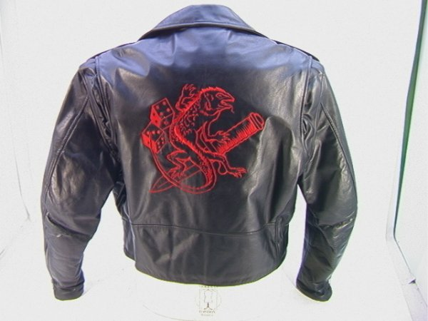 1005: AEROSMITH Guns N Roses Crew Tour Jacket  Leather