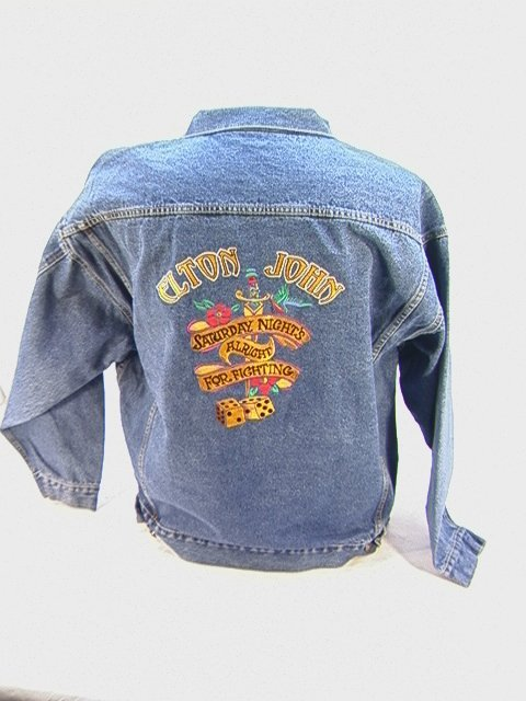 1007: ELTON JOHN Ltd Edition Tour Denim Jacket, 2005 Wo