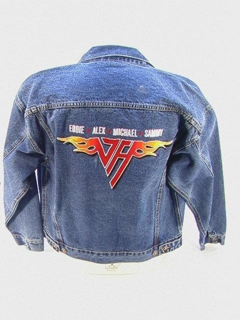 1008: VAN HALEN Ltd Edition Tour Denim Jacket, 2004. Si