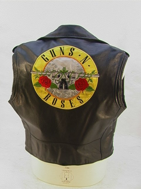 1010: GUNS N ROSES Leather Tour Vest Band and Crew. Mot