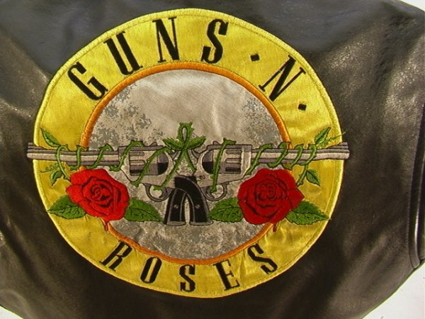 1010: GUNS N ROSES Leather Tour Vest Band and Crew. Mot - 2