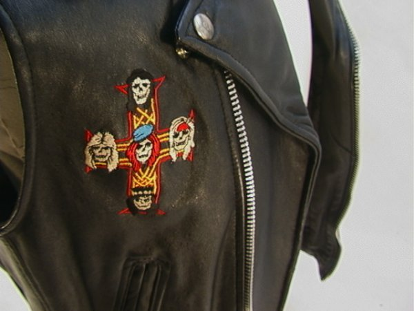 1010: GUNS N ROSES Leather Tour Vest Band and Crew. Mot - 3