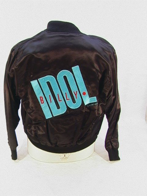 1014: BILLY IDOL Rebel Yell Satin Tour Jacket Band Crew
