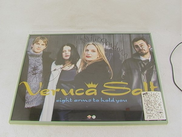 1019: VERUCA SALT Signed Band Promotional  Poster Frame