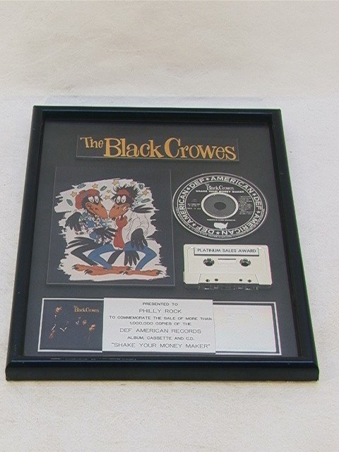 1023: BLACK CROWES Platinum Sales Award RIAA Certified.
