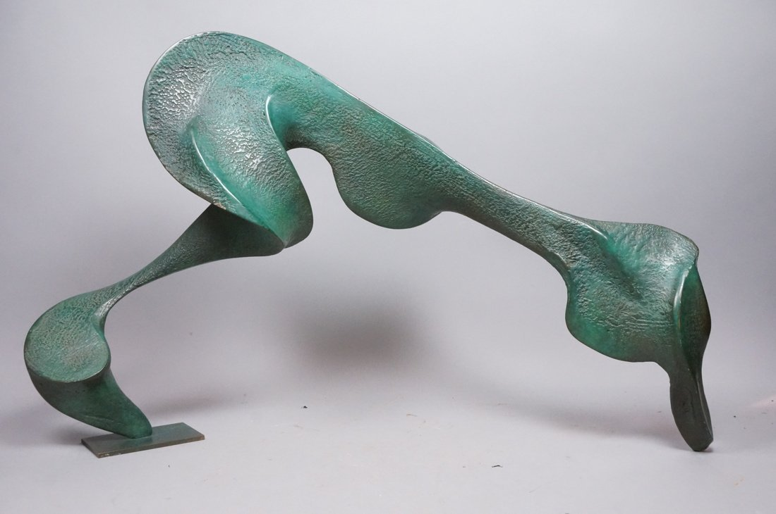 Large Bronze Henry Moore style Sculpture.  Sinuou - 5