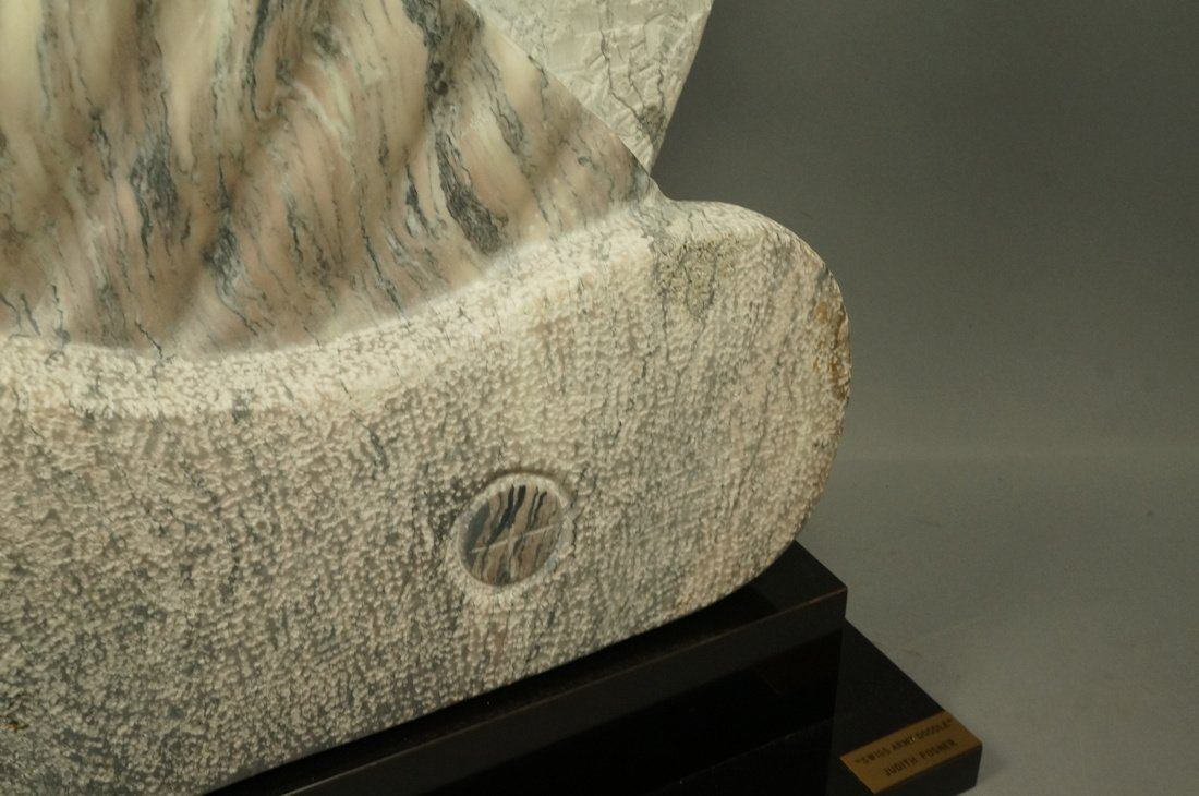 """JUDITH POSNER Signed Marble Table Sculpture. """"Swi - 4"""