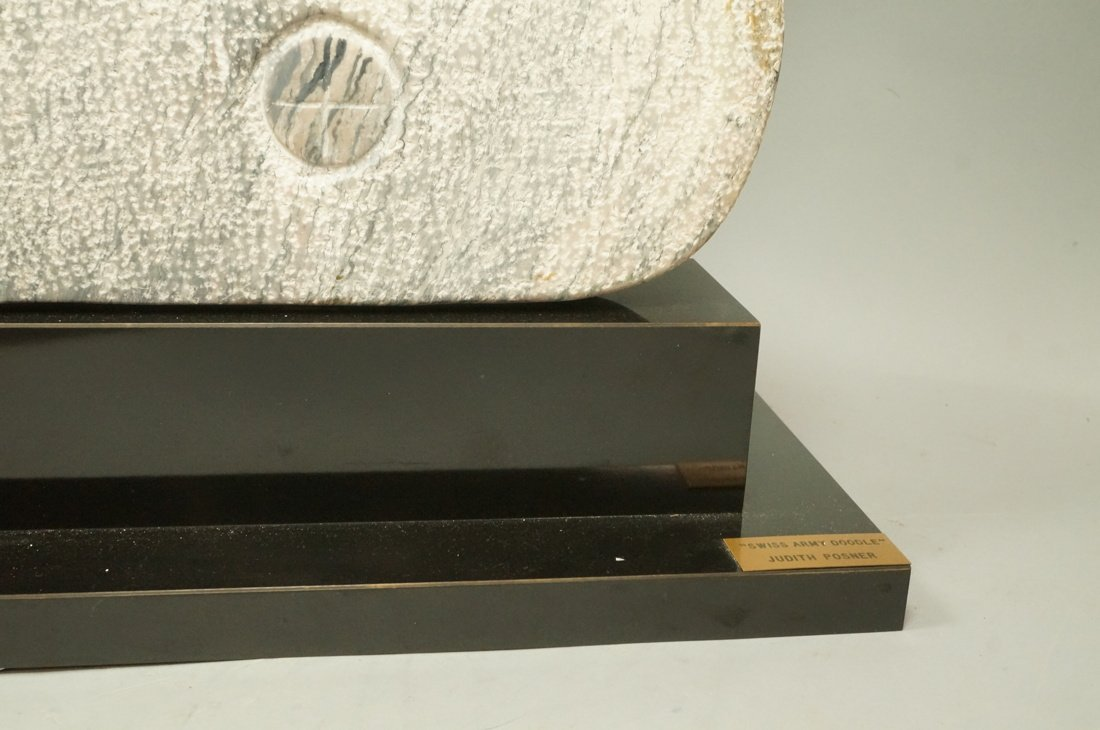 """JUDITH POSNER Signed Marble Table Sculpture. """"Swi - 5"""