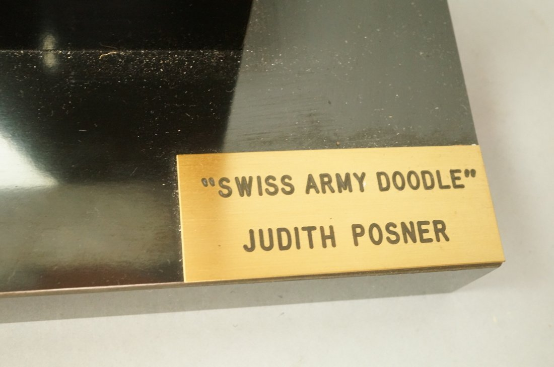 """JUDITH POSNER Signed Marble Table Sculpture. """"Swi - 6"""