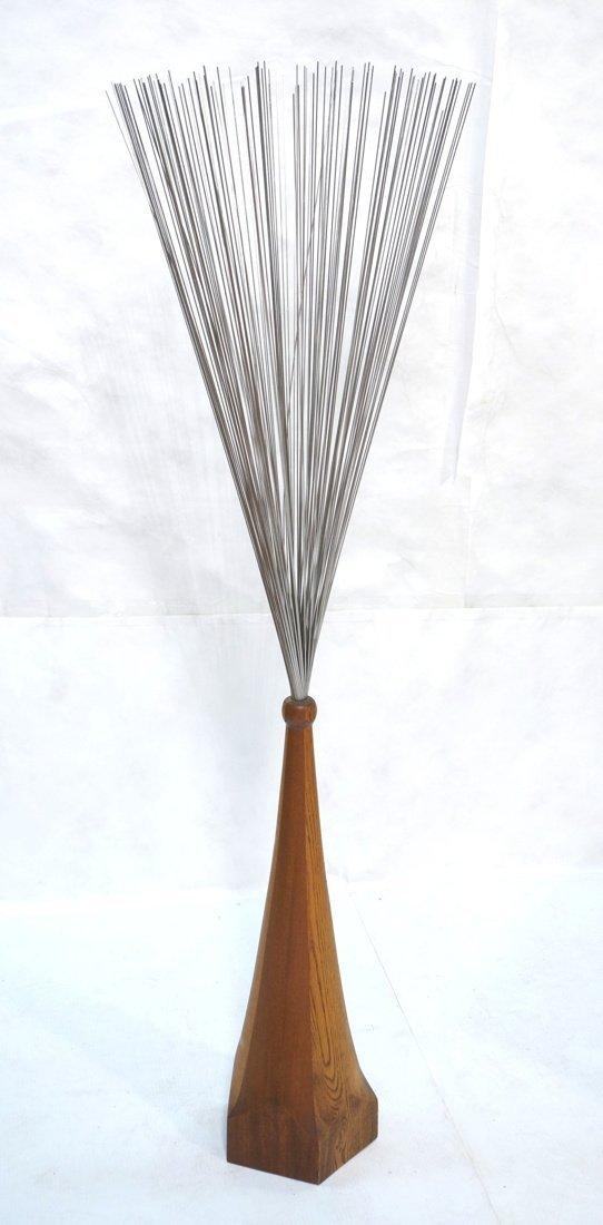 Tall Bertoia style Metal Rod Sculpture. Tapered w