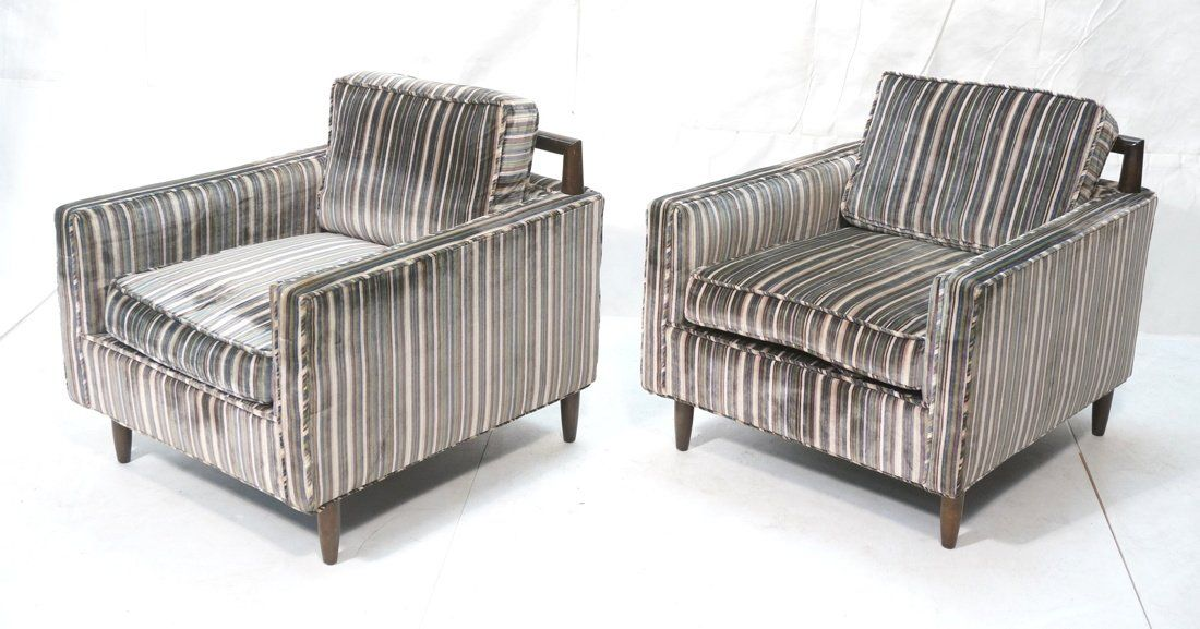 Pr Modernist Harvey Probber style Lounge Chairs.